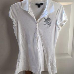 Women's Express polo short sleeve.